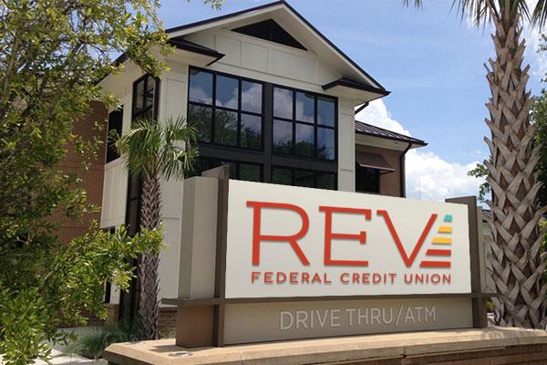 REV branch sign mockup